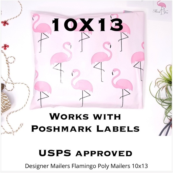 50 10X13 Flamingo Poly Mailers PRICE IS FIRM